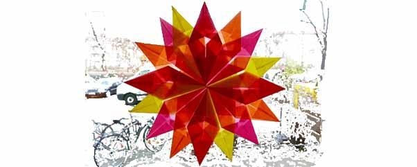 Weihnachtsbasteln Sterne Aus Goldpapier.Einfache Weihnachtssterne Selber Machen Falten Basteln Ytti