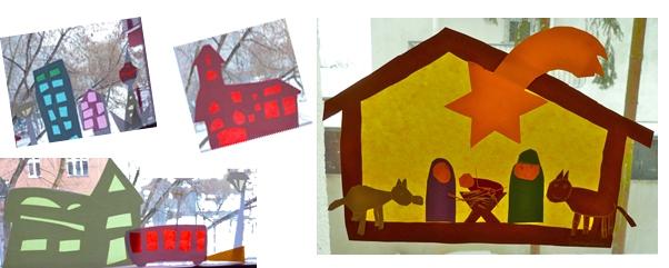 Basteln Zu Weihnachten Fensterbilder Mit Transparentpapier Ytti