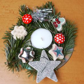 Basteln Zu Weihnachten Weihnachtlich Geschmucktes Teelicht Ytti