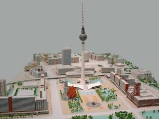 Berliner Fernsehtur Alexanderplatz Stadtmodell