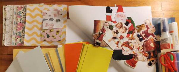 Basteln zu Weihnachten - Weihnachtskarten selbst gestalten mit Kindern