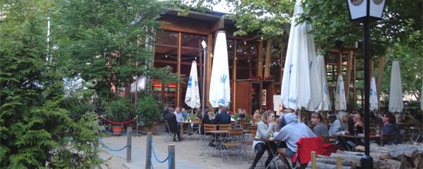 Parkcafé Berlin am Fehrbelliner Platz in Wilmersdorf mit Paulanergarten