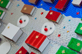 Adventskalender basteln aus Streichholzschachteln