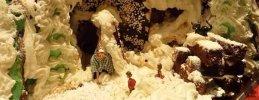 Weihnachtsbasteln, Lebkuchenhaus basteln