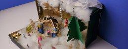 Weihnachtsbasteln, Weihnachten im Schuhkarton
