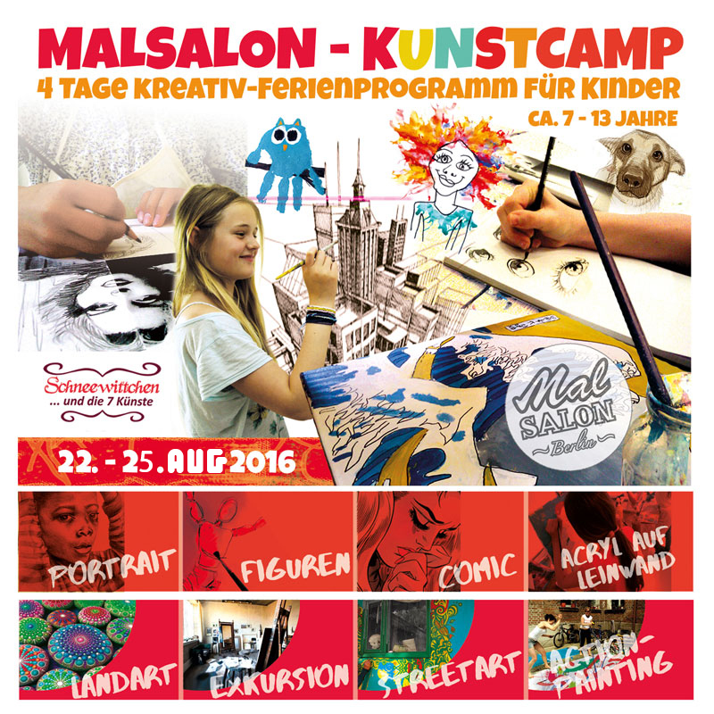 Kinder Ferien Kunst Camp August