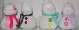 Last minute basteltipp zu weihnachten mit Kindern - Einfache Scheemänner bauen