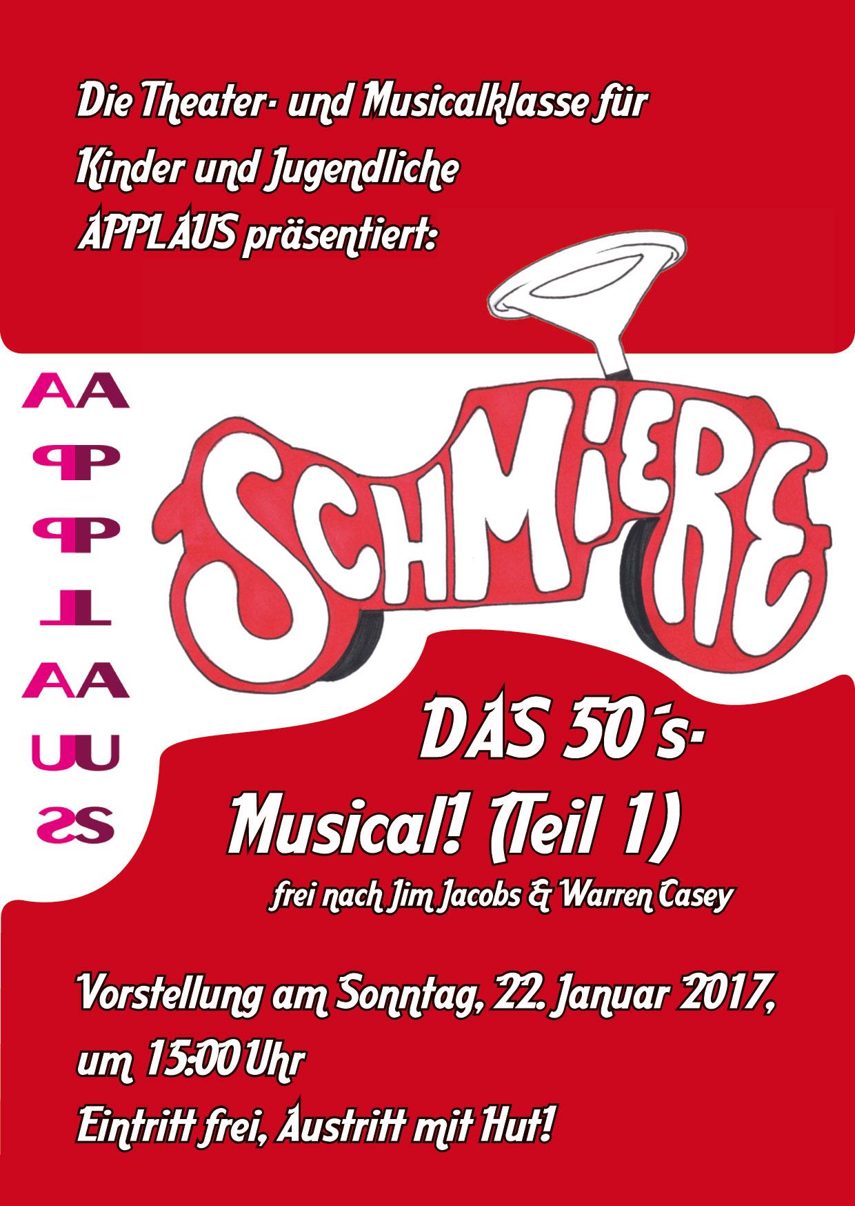 Die Theater- und Musicalklasse für Kinder APPLAUS präsentiert Schmiere - Das 50´s-Musical (Teil 1)