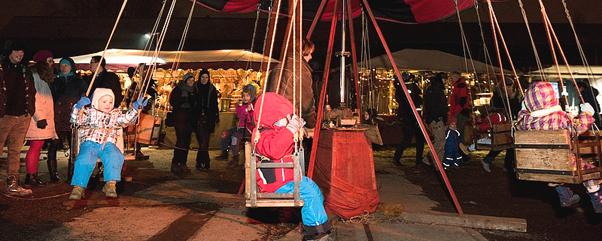 Historischer Weihnachtsmarkt auf dem Gelände des RAW in Berlin-Friedrichshain