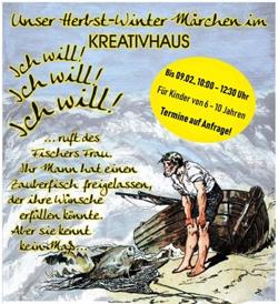 """Winterferien für Kinder Berlin """"Vom Fischer und seiner Frau"""" ist ein Märchen von Philipp Otto Runge aus dem 18. Jahrhundert"""