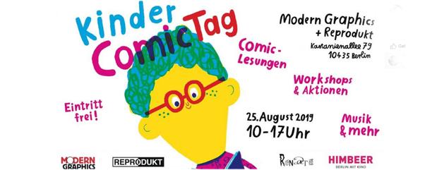 Kinder Comic Tag 2019 in der Kastanienallee Berlin Prenzlauer Berg am 25. August