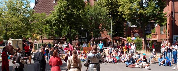 Mittelalterliches Markttreiben im Kinder- und Jugendzentrum Burg im wunderschönen Berlin Friedenau