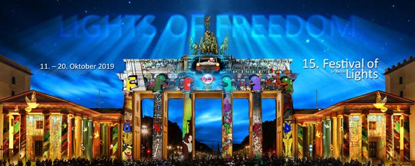 """Festival of Lights in Berlin vom 11. bis 20. September 2020 unter dem Motto: """"Together we shine"""""""