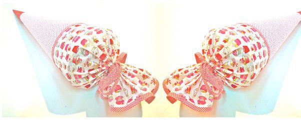 Stoff-Schultüten als Kissen © ytti.de