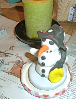 Basteln Weihnachten Schneemann basteln