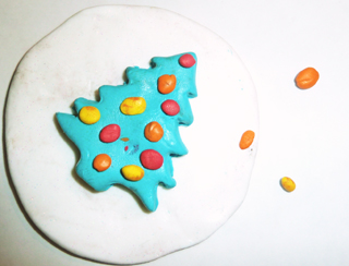 Basteln Weihnachten Deckel Schneekugel basteln
