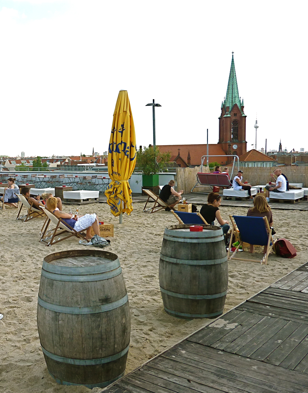 Strandbar Strandcaf Deck 5 Berlin Prenzlauer Berg
