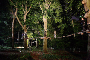 Kletterwald Berlin Waldhochseilgarten Jungfernheide Nachtklettern