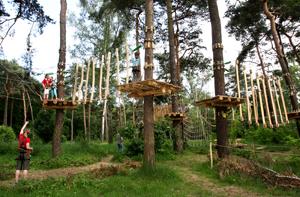 Kletterwald Berlin Waldhochseilgarten Jungfernheide Kinderparcours