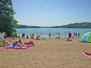Sacrower See in Potsdam Strand vom Restaurant Landleben