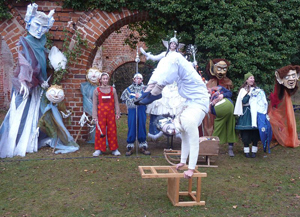 Wikingerfest am Kiessee Schildow - Feengestalten und Pantomime