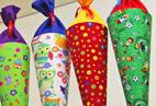 Handgefertigte Schultüten im Spielzeugladen Katalka